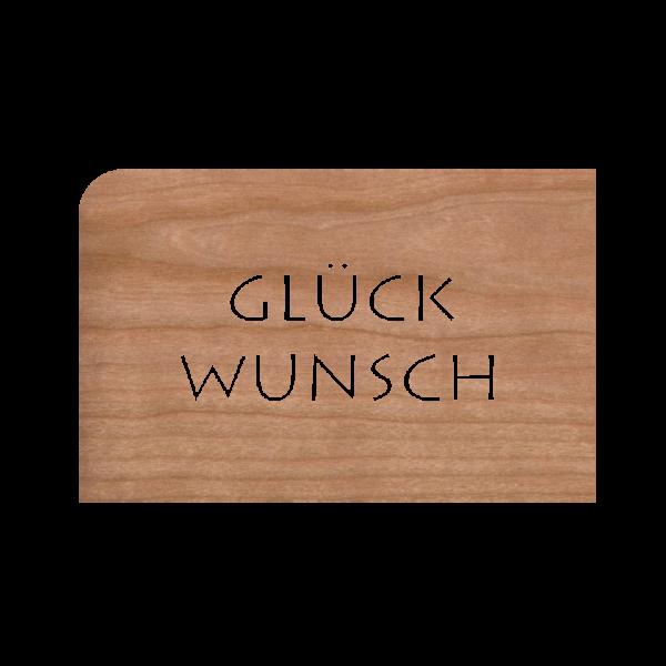 Zubehör: Holzpost Grußkarte 'Glückwunsch'