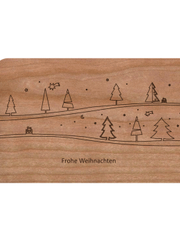 Zubehör: Holzpost Grußkarte