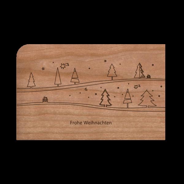 Zubehör: Holzpost Grußkarte 'Weihnachtspost'
