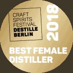Destille Berlin 2018 Sonderpreis Best Female Distiller