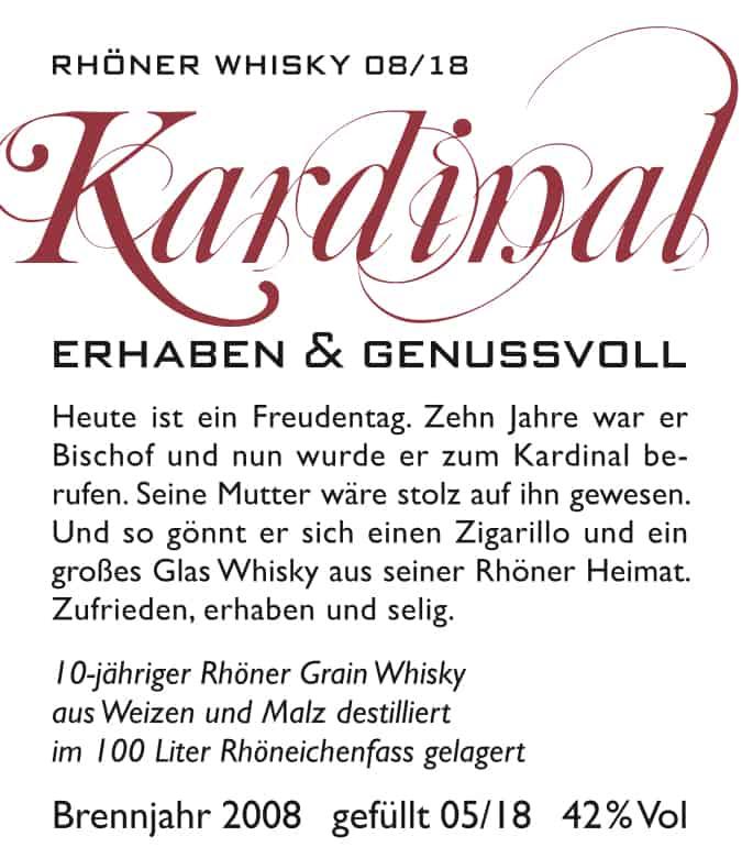Kardinal - Rhöner Whisky 08/18