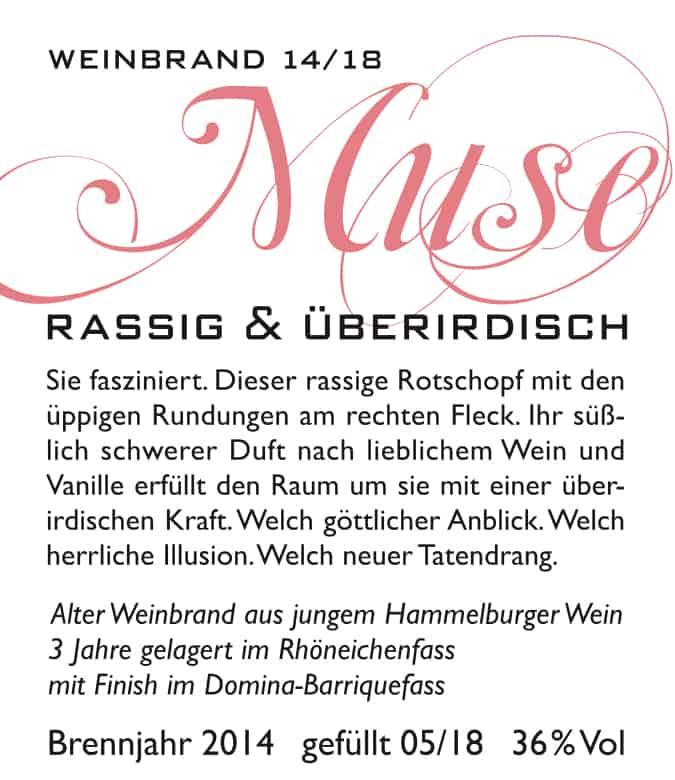 Muse - Rhöner Weinbrand 14/18