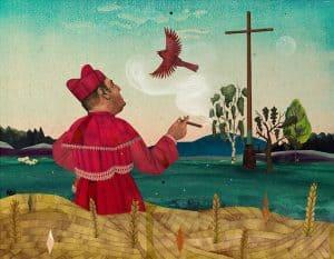 'Kardinal' limitierter Kunstdruck illustriert von Marco Wagner